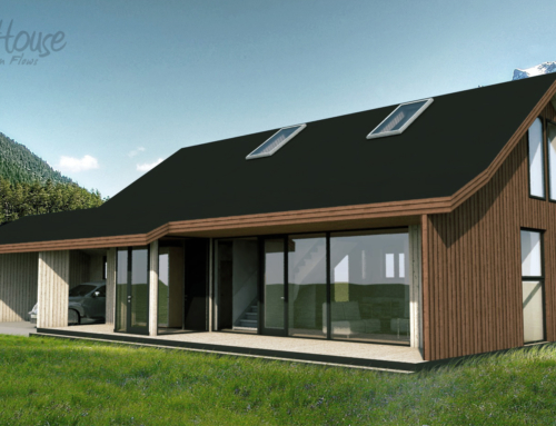 High-quality construction of a low-energy house ensures lower heating costs