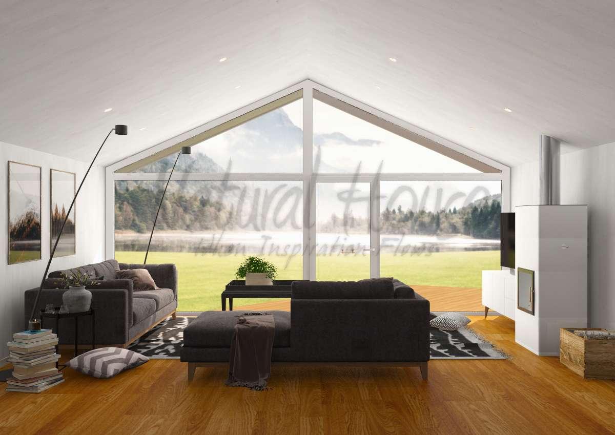 living room - family - scandinavian - cabin - naturalhouse